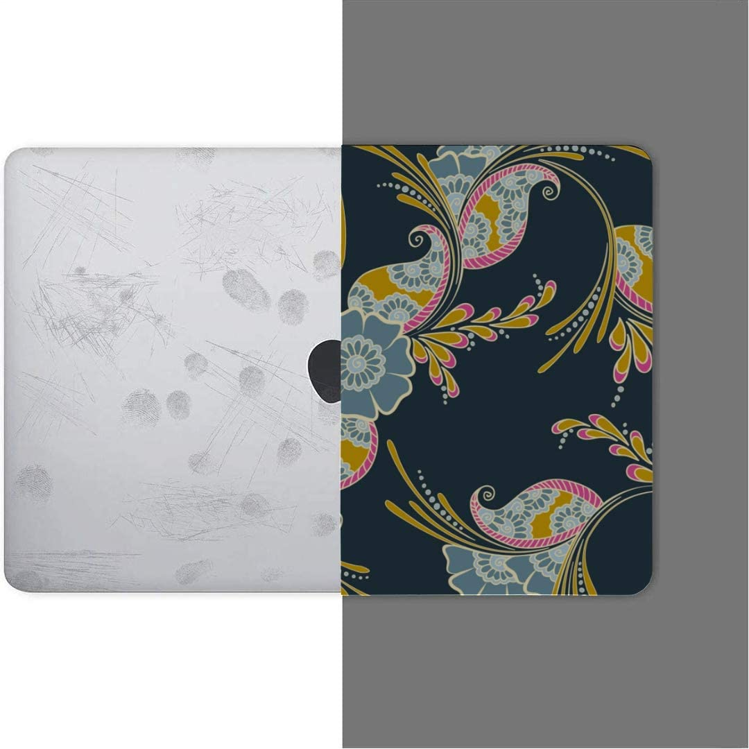 MacBook Pro Case Mehndi Indian Traditional Pattern Floral MacBook Retina 12 A1534 Plastic Case Keyboard Cover /& Screen Protector /& Keyboard Cleaning