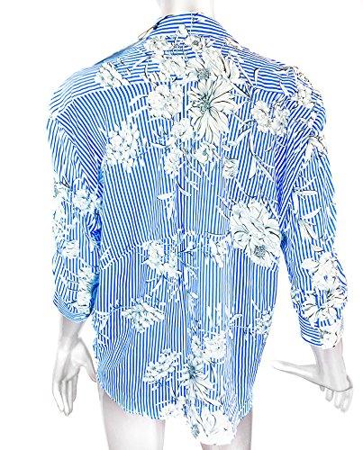 Zara Damen Bluse mit print und polokragen 4043/245