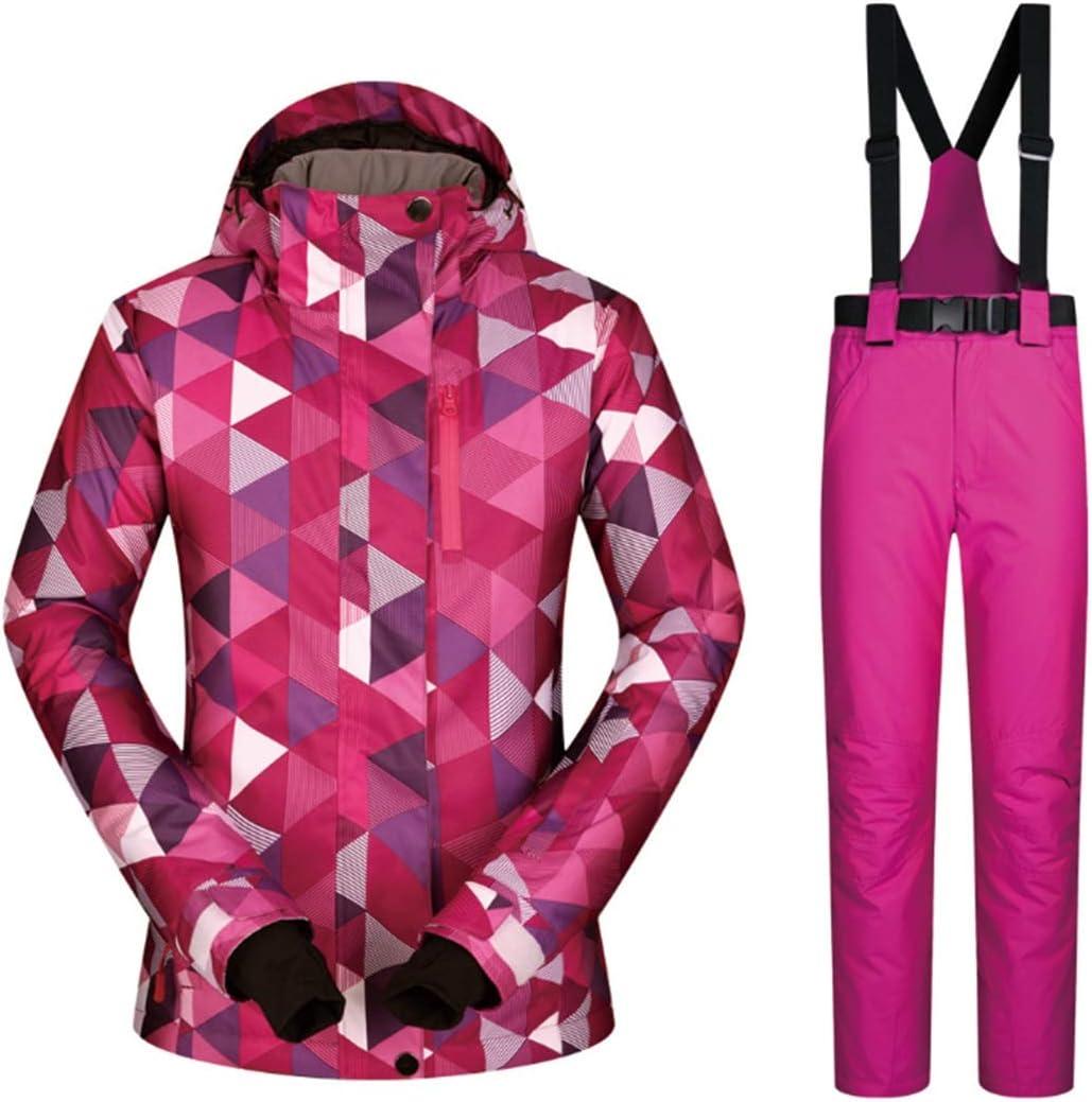 女性のスキージャケット防水 男性の女性のための女性のパフォーマンススキージャケットとパンツ断熱スキー防風防水暖かいコートの冬服 レディース冬の雪のジャケットレインコート (色 : 03, サイズ : M)  Medium