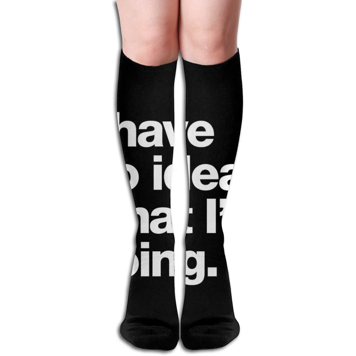 I Have No Idea What Im DoingFashion Athletic Socks Knee High Socks For Men/&Women All Sport Holiday