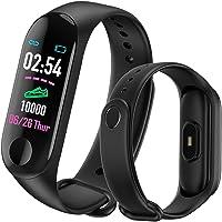 MATEYOU Orologio Fitness Tracker Watch Smart Fitness Tracker Watch Braccialetto Cardiofrequenzimetro da Polso Cardio Contapassi Distanza Calorie Touch Screen per Donna Uomo
