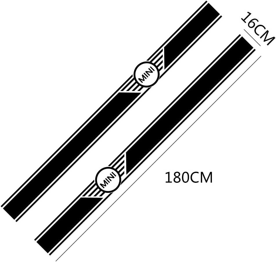 F/ür Mini Cooper R56 R57 R58 R50 R52 R53 R59 R61 Countryman R60 F60 F55 F56 F54 FSXTLLL Auto Seitenstreifen Seitenaufkleber Aufkleber