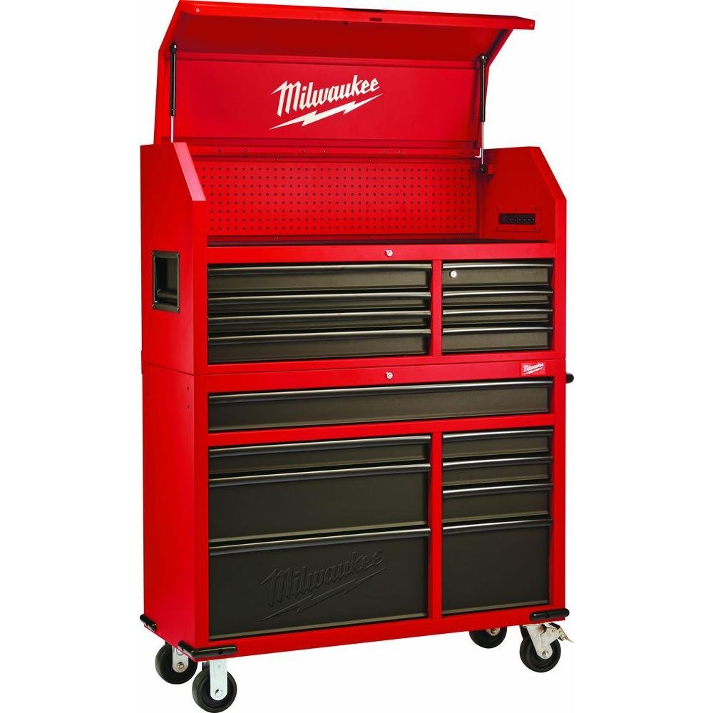 Etonnant Amazon.com: Heavy Duty, Drawer 16 Tool Chest 46 In. And Rolling Cabinet  Set, Red And Black, Personal Valuables Storage Drawer With Separate Lock In  The Tool ...