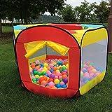 Indoor Outdoor Ball Hut Hideaway Tent, Play Hut with Zippered Storage Bag