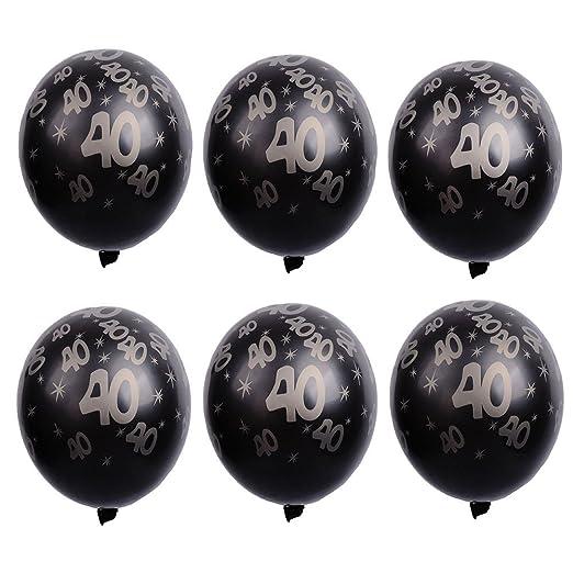 20 Globos negros y grises 40 años cumpleaños decoracion 40 ...