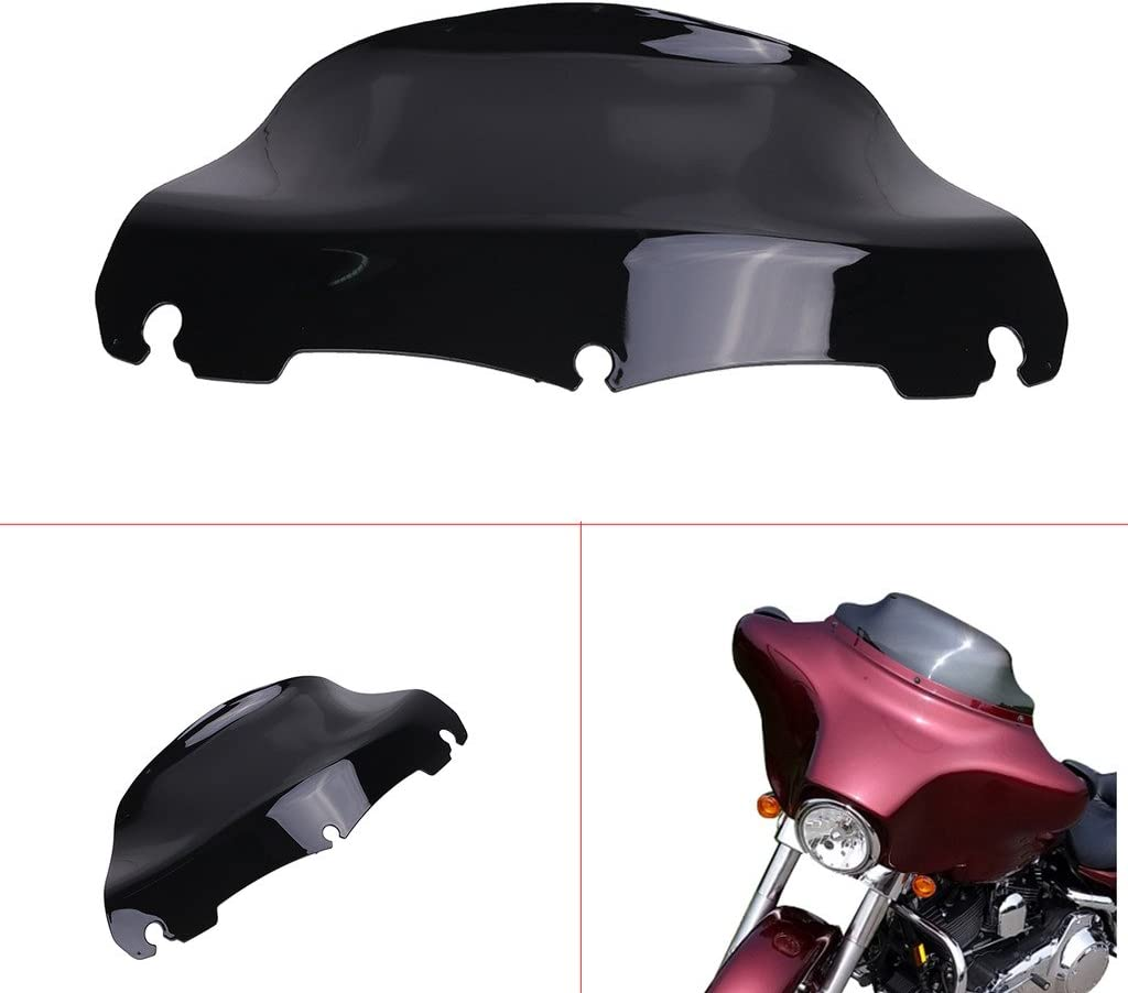 Amazicha 10 Smoke Tint Batwing Windshield Windscreen Fairing Round for Harley Touring Electra Street Glide 2014-2018 live4fun