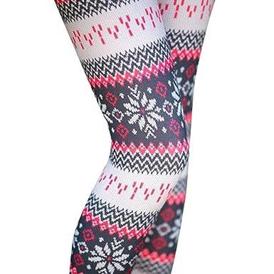 TOPmountain Noël imprimé Pantalon Chaud d hiver Leggings Minces pour Femme  XL 53e49fe3dc5