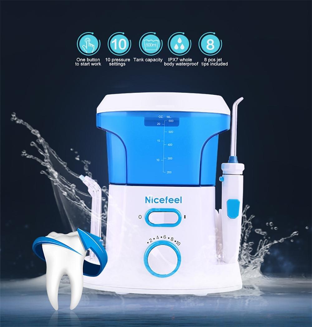 Cepillos de dientes eléctricos de rotación Irrigador dental y Nasal SMX&xh Flosser de agua 600 ml Professional Oral Irrigator Family Pack Selección de agua ...