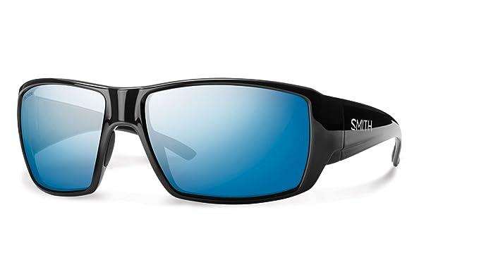 Smith GCGPUGMBLK - Gafas de Sol polarizadas para Hombre, Montura Negra, Lentes Azules