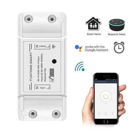 tioodre Smart Remote Control, WiFi Conexión Inteligente Socket Funciona con Alexa Google Assistant Support ifttt