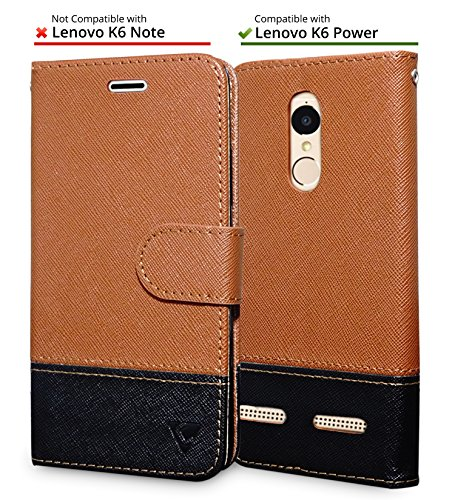 sale retailer c72e6 a92f2 Ceego Wallet Flip Cover for Lenovo K6 power Credit Card Slots &  Wallet/Ultimate Value for Money/ EcoGo Series Lenovo Vibe K6 Power Flip  Case (Brown & ...