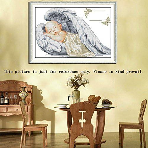 ATATMOUNT Piccioni Bianchi Innamorati Ricamo Fatto a Mano Fai-da-Te contato 14CT Kit Ricamo a Punto Croce Stampato Set Decorazioni per la casa