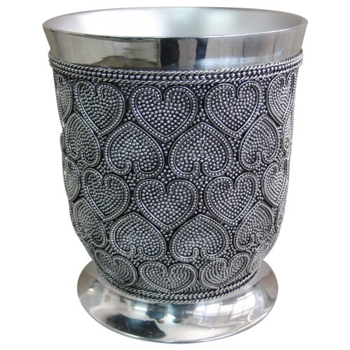 nu steel Beaded Heart Wastebasket, 7-Quart ()