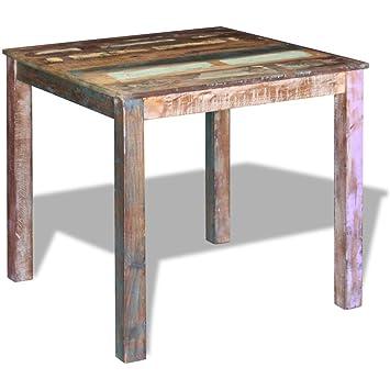 Amazon.de: Festnight Antik-Stil Esstisch Holz Tisch Esszimmertisch ...
