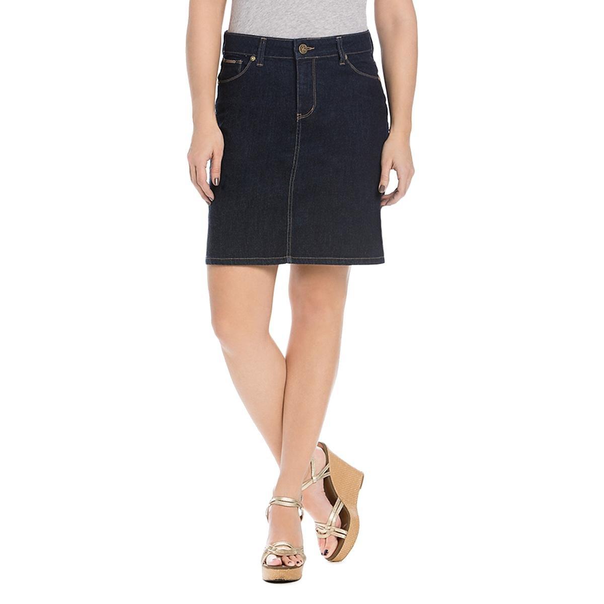 Beija Flor Womens Mini Curve Friendly Denim Skirt Blue 6