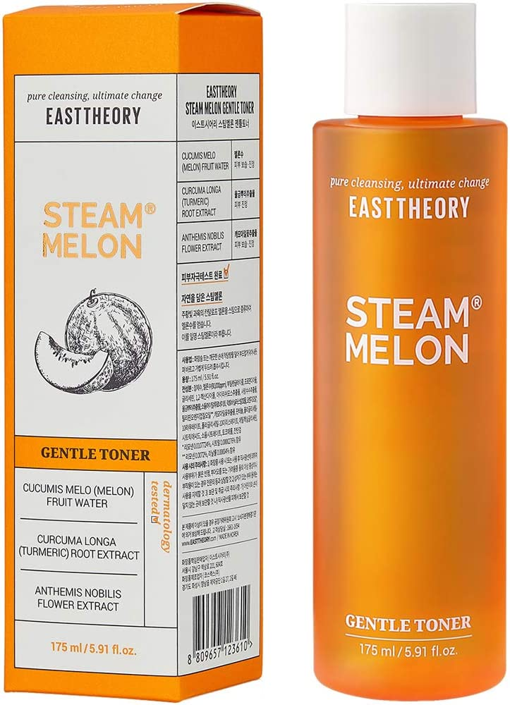 Gentle Face Toner 5.91oz - Hypoallergenic, Deep Moisturizing, Hydrating Melon Water, Hyaluronic Acid for Sensitive Oily Dry Acne Prone Skin, Alcohol Free, Paraben Free - Korean Skin Care - EASTTHEORY