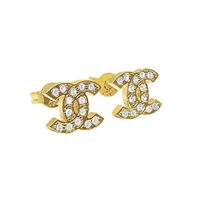 79c1a4381 Stud Earrings for Women Item Number - (1865-CC-67) (Gold): Amazon.co ...