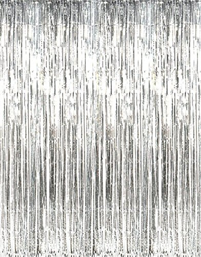 Metallic 3 ft X 8 ft. Silver Foil Fringe - Party Shower Curtain Shopping Results