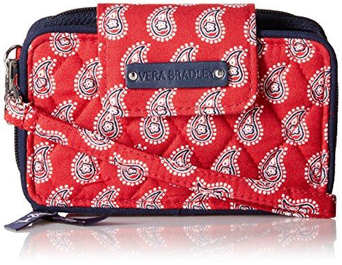 Vera Bradley Smartphone Wristlet 2.0 Wallet, Petite Red Bandana Paisley, One Size Petite Purse Handbag