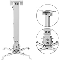 DAHSHA Universal Projector Ceiling Mount Bracket Stand for LED LCD DLP (White, 3ft)