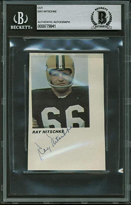c87da1a5 Amazon.com: Ray Nitschke Autographed Signed 2X35 Packers Magazine ...