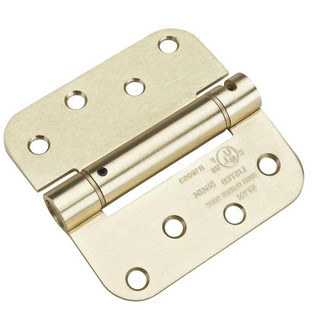 Satin Brass Pro-Series Self Closing Hinge National Hardware N287-147 4in