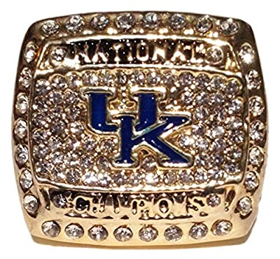 Kentucky Wildcats 2012 Championship Ring - Wildcats College Basketball Memorabilia NCAA March Madness National Champions - Mens Size 11 Shipped from USA