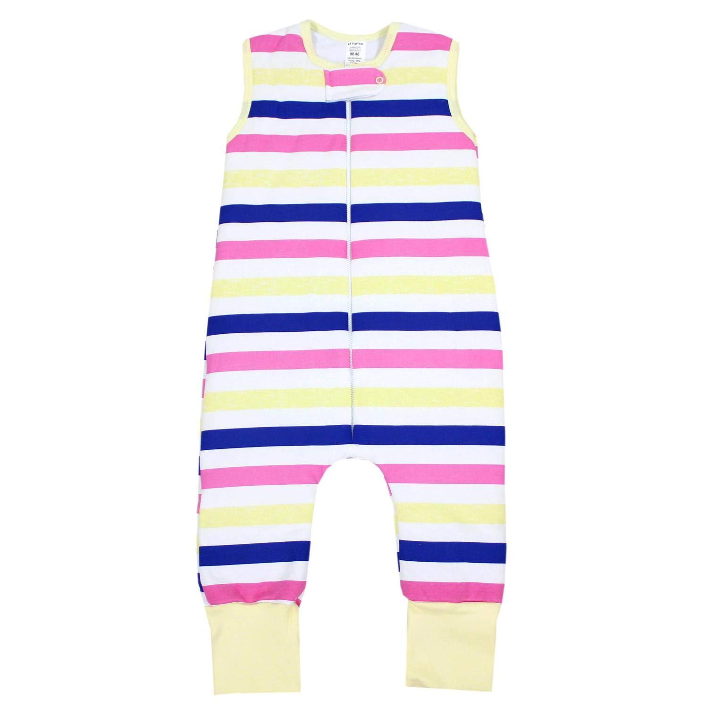TupTam Kinder Schlafsack mit Beinen Wattiert Gemustert