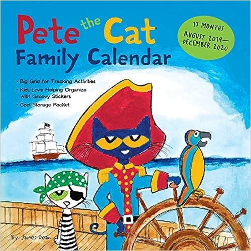 livre pdf gratuit télécharger Pete the Cat 17-month Family 2019-2020 Calendar