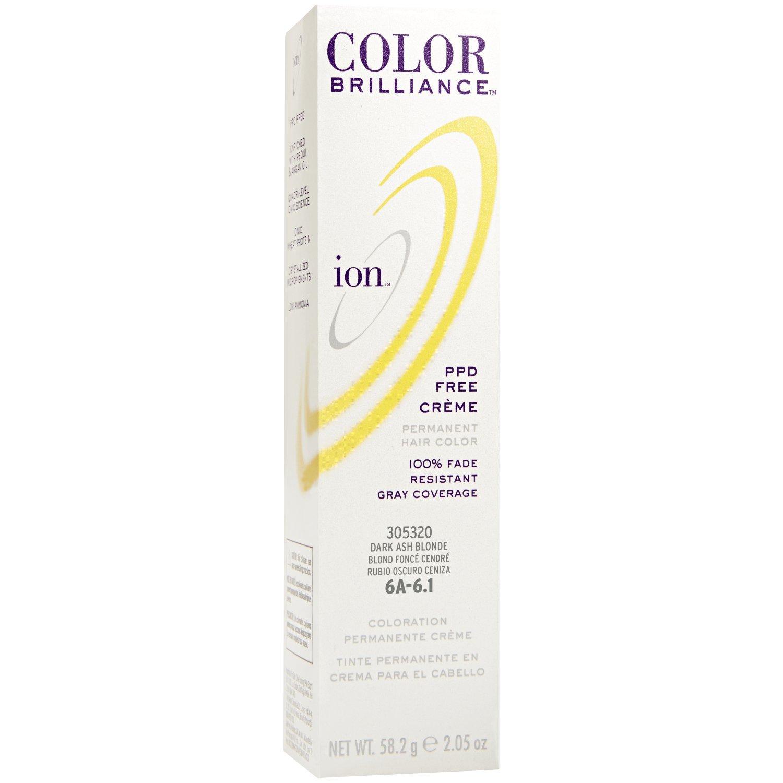 Ion 6a Dark Ash Blonde Permanent Creme Hair Color 6a Dark Ash Blonde