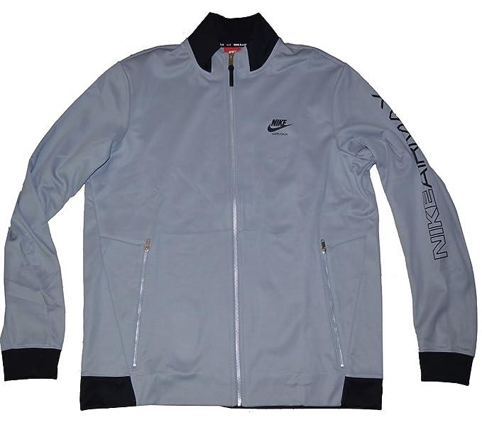 NIKE Air Max Men's Full Zip Long Sleeve Jacket (Large, Gray