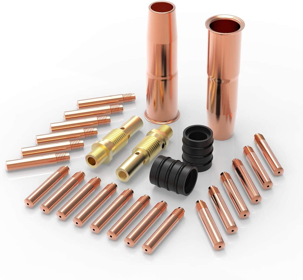 """YESWELDER MIG Welding Gun Kit .035"""" Tip-Nozzle-Diffuser-Adapter for Lincoln Magnum 200/250 Tweco #2"""