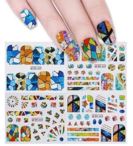 (1 Sheet Butterfly Nail Art Sticker Water Transfer Nails Wrap Paint Tattoos Stamper Plates Templates Tools Tips Kits Gorgeous Popular Xmas Winter Snow Holiday Stick Tool Vinyls Decals Kit,)
