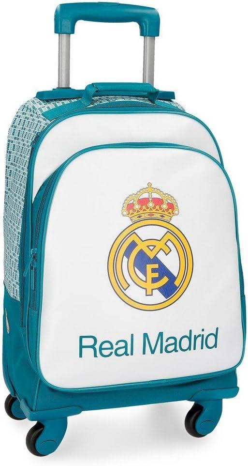 Real Madrid 5372861 RM Leyenda Equipaje de Mano, 50 cm, 33.6 litros, Blanco