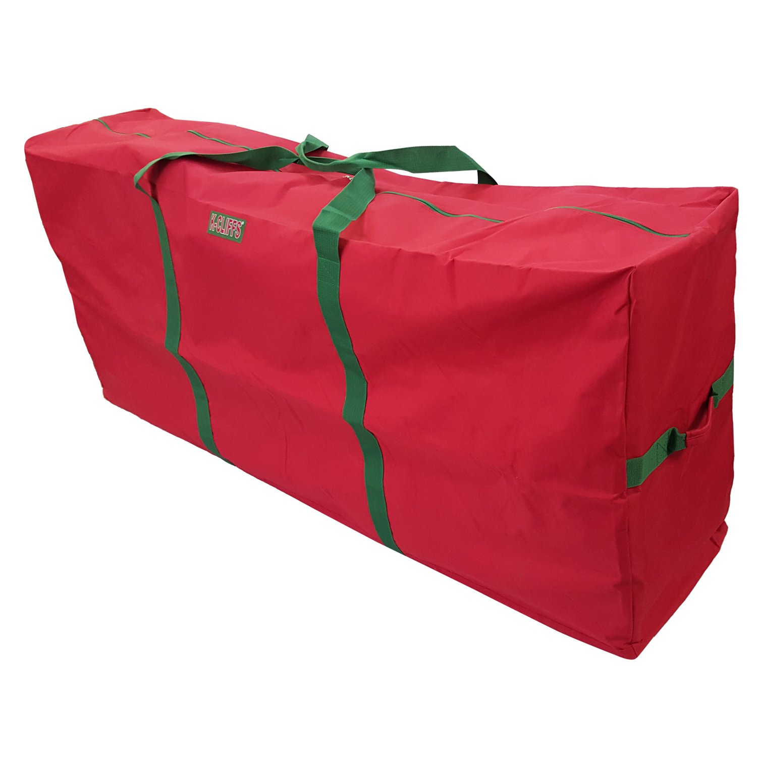 "K-Cliffs Heavy Duty Christmas Tree Storage Bag Fit Upto 9 Foot Artificial Tree Holiday Red Extra Large Dimensions 65'' x 30"" x 15'' by Praise Start"