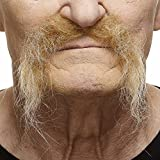 Mustaches Self Adhesive, Novelty, Fake, Realistic Fu Manchu, Blond Color