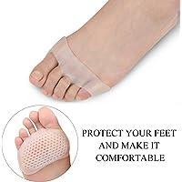Almohadillas de silicona suave y transpirable para mujer Almohadillas antideslizantes Cómodo para damas Cojines para el cuidado de los pies delanteros Almohadillas para zapatos de tacón alto