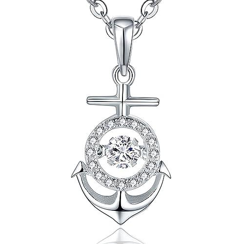 Platinum-Plated Sterling Silver Swarovski Zirconia Three Open-Heart Pendant Necklace