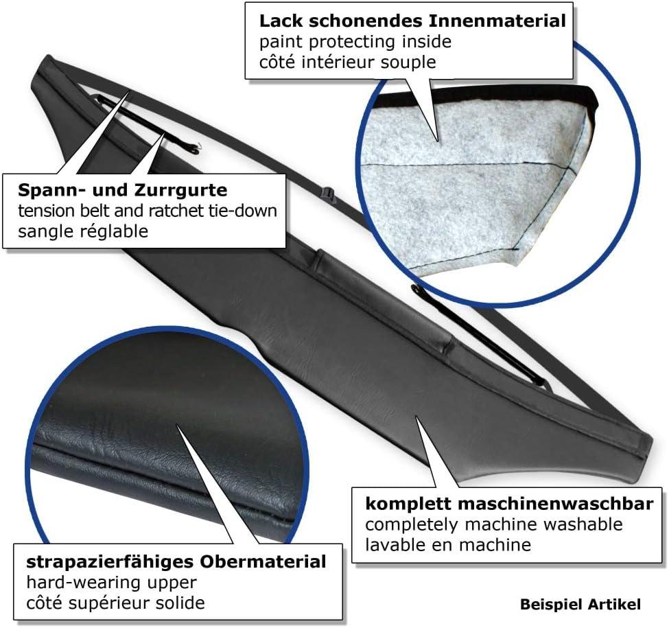 Steinschlagschutz Hauben Bra Akhan SS542 Frontmaske schwarz geeignet f/ür Seat Leon 1P 05-09