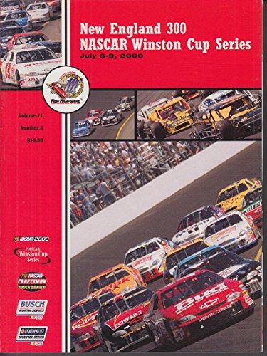 NASCAR Winston Cup New England 300 Official Race Program 2000 & ticket stub