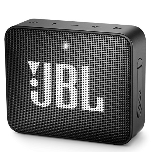 JBL GO 2 Portable Bluetooth Waterproof Speaker, black, 4.3 x 4.5 x 1.5 by JBL