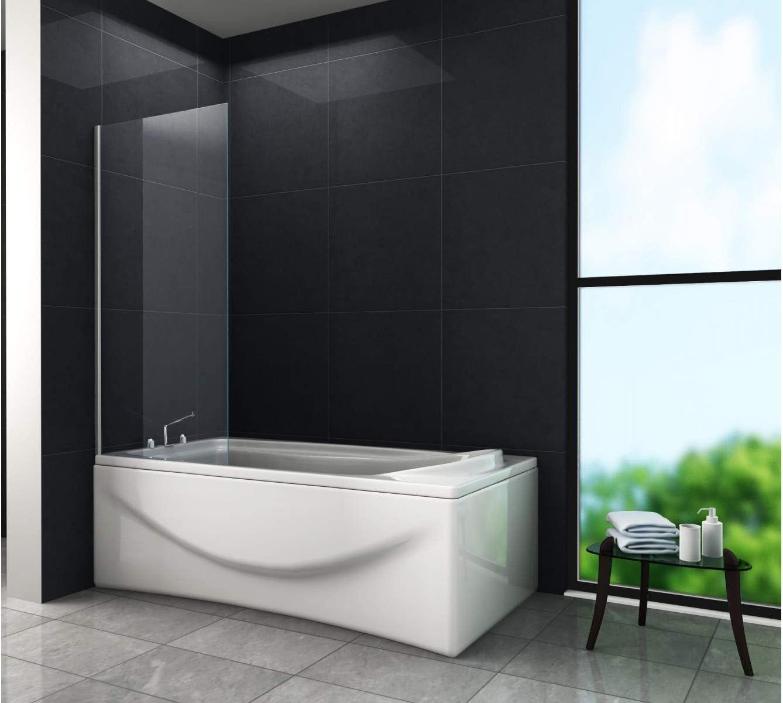 Mampara Frankfurt (bañera) 80 x 140 cm/Ducha Ducha – Mampara de ducha pared: Amazon.es: Bricolaje y herramientas