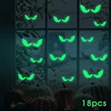 Luminous Sticker, Proboths Creative Removable Luminous Fluorescent Sticker Glow in Dark Decal for Halloween Home Wall Window Decoration Peeping eyes