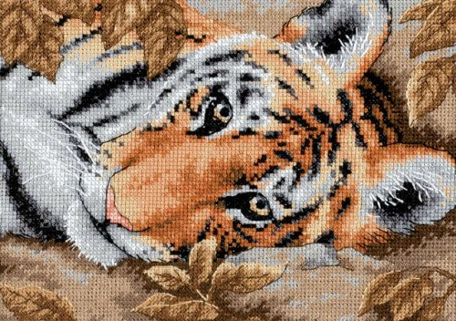 Beguiling Tiger - Dimensions Gold Collection Petite Beguiling Tiger Counted Cross Stitch-7x5