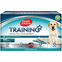 Simple Solution Premium Dog and Puppy Training Pads, White, Pack of 100