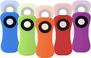 10 Pack Magnetic Multi-Purpose Clips - 5 Assorted Bright Colors Refrigerator Magnets Bag Clips - Good Clips for Food Bags and Chip Bags, Magnet Clips Perfect for Kitchen Fridge and Chips Bag Use