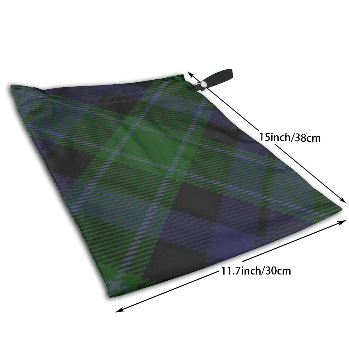 Scottish Clan Graham Mentieth Tartan Tote Travel Accessories Size Happens Reusable Laundry Beach Toddler Dry Bag for Workout Swim Wet Kid Baby Gym Clothes Cloth Diaper Wetbag