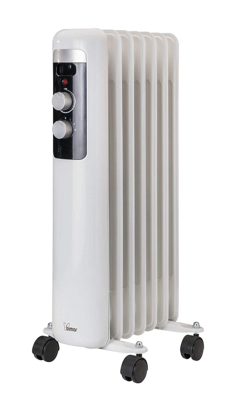 Radiador de aceite 1500 W con 7 Elementos calefactores 4 Ruedas giratorias y ASA integrada Radiador Eléctrico De convección Natural: Amazon.es: Hogar