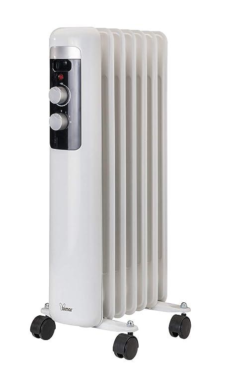 Radiador de aceite 1500 W con 7 Elementos calefactores 4 Ruedas giratorias y ASA integrada Radiador