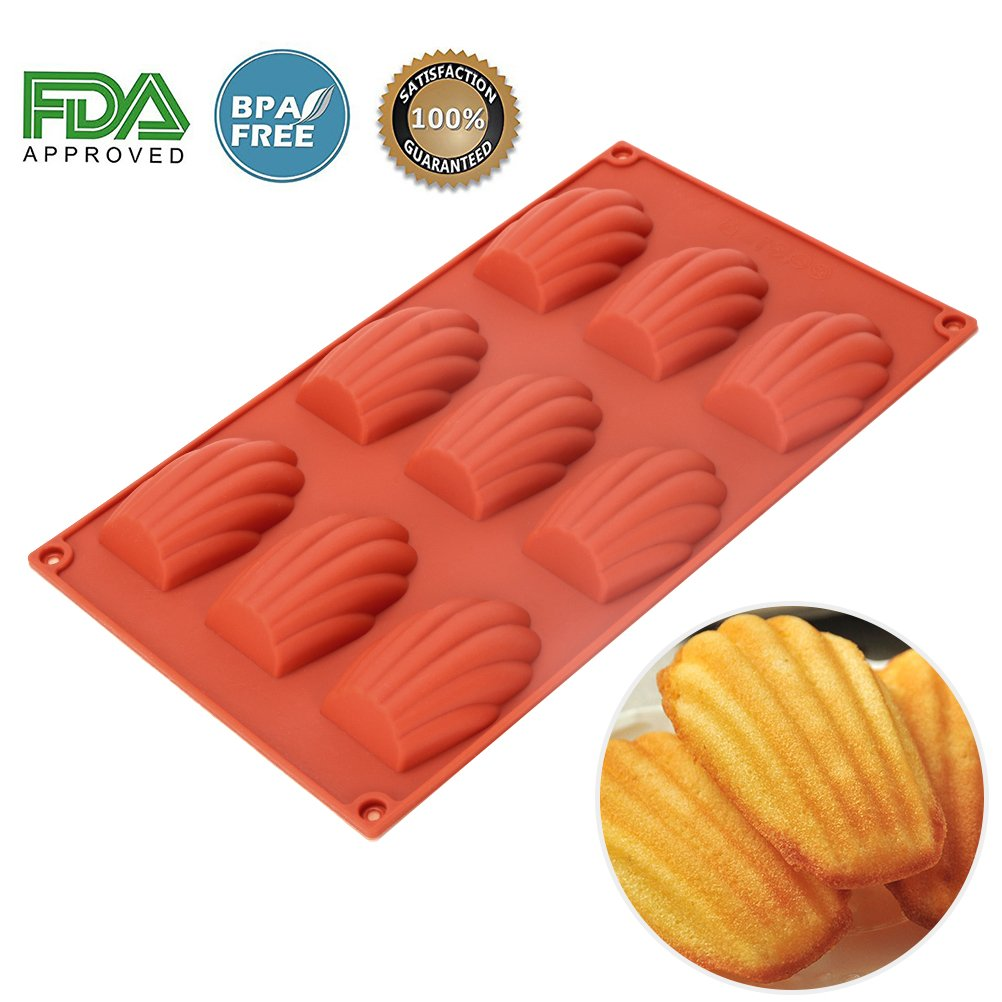 Silicone Cannele Mold - 18 Cavities Nonstick Silicone Mold , Ice Cube Tray , Soap Mold , Cannele Bordelais Baking Mold for Bordelais Fluted Cakes , Biscuit , Chocolate , Pudding Baker Boutique